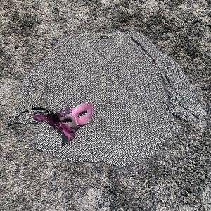 a.n.a. Geometric Blouse Size XL